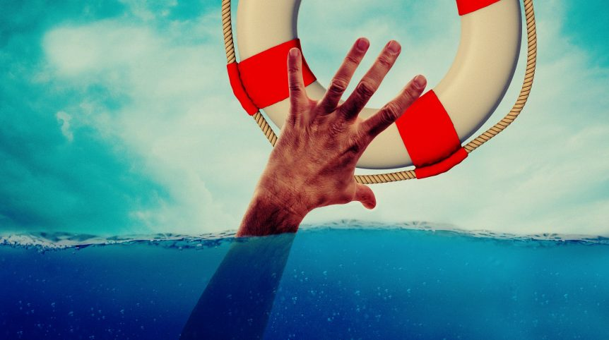 man falling overboard