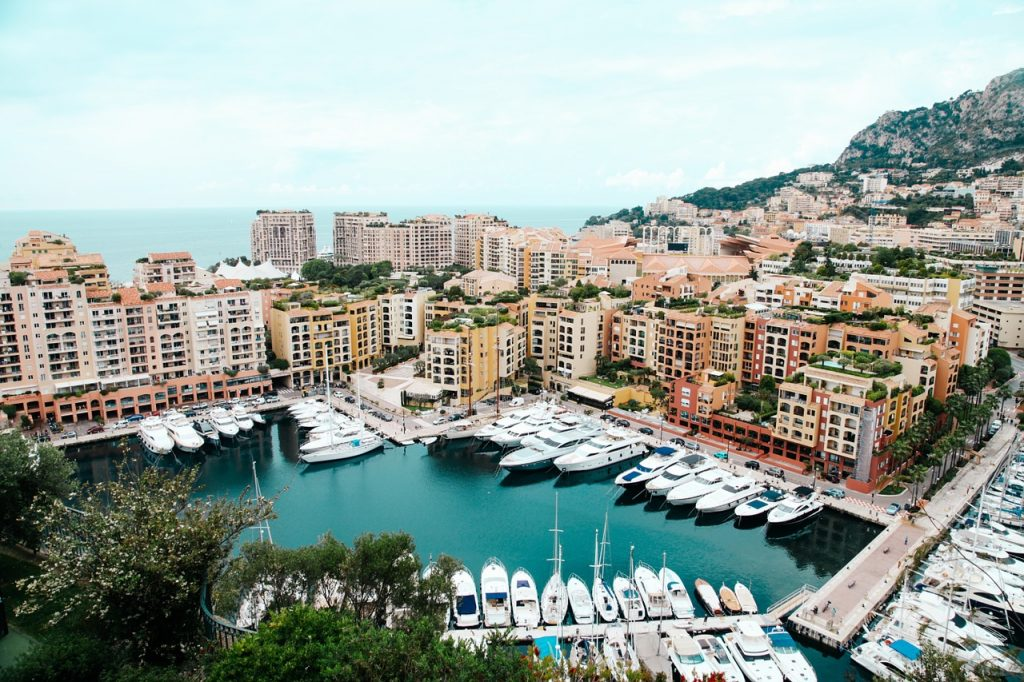 luxury boat marina in Monaco