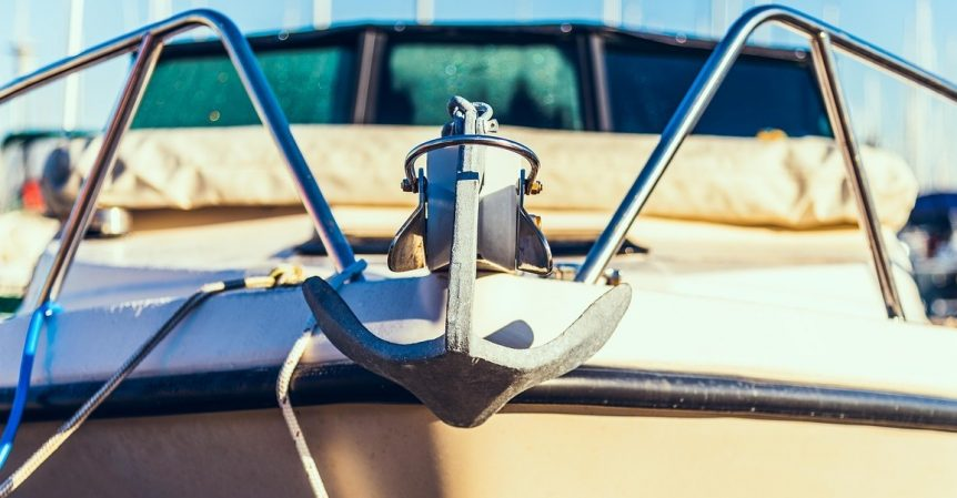 anchor on a recreational boat