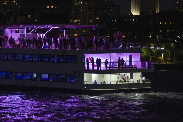 Boat party at night